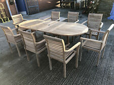 GARDEN TABLE AND CHAIRS TEAK FURNITURE ::must Go To Make Way For New Stock