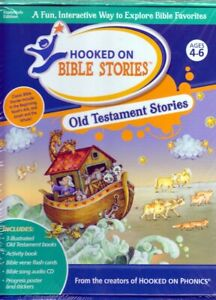 Hooked on Phonics Bible Stories OLD TESTAMENT (Audio CD,Bible Verse Flash Cards)