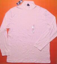 John Ashford Men Long Sleeve Crew Pullover Tee Shirt Bright White L NEWdefect