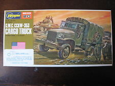 MAQUETTE 1/72 VINTAGE HASEGAWA GMC CGKW 353 US CARGO TRUCK  WWII MILITAIRE
