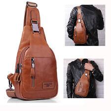 Crossbody Bag Men Ekphero Casual Genuine Leather Oil Wax Chest Bag
