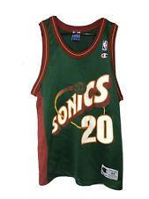 Vintage Gary Payton Seattle Sonics 20 Champion Jersey Size 44 Large