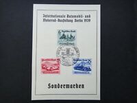 Germany Nazi 1939 Stamps FDC Racing cars Automobiles WWII Third Reich German Deu