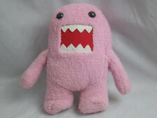 PINK DOMO KUM DOMOKUN MOSTER RED MOUTH TEETH BROWN EYES SOFT PLUSH STUFFED DOLL