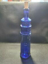 BLUE LIGHTHOUSE WINE BOTTLE TRURO VINYARDS 13""