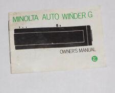 Original Minolta Auto Winder G Owner's Manual...FREE SHIPPING