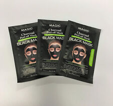 BLACK MASK - MAGIC COLLECTION - CHARCOAL PEEL OFF MASK, .3fl/oz, 3 PACK,  NEW