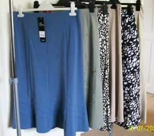 6 NEW LADIES SKIRTS SIZE 12 S SOME TAGGED  BM, BONMARCHE, M & S , etc