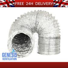 More details for aluminium ducting 5 10 meters flexible foil air ventilation duct hydroponics alu
