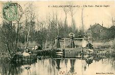 Carte BALLANCOURT SUR ESSONNE L'île Verte Pont des Soupirs Famille en promenade