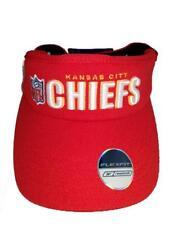 New Kansas City Chiefs Mens OSFA Reebok Red White Flexfit Golf Visor Hat