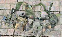 British Army DPM PLCE Webbing Yoke Belt Six Mixed Olive&DPM Pouches,Grade 1
