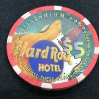 Hard Rock 2005 Coop $5 Casino Chip Mint//New
