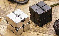 Argento Infinity Cube per Stress Relief Fidget Anti Angst Adhd Giocattolo Edc