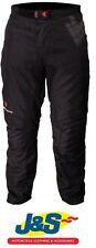 Pantaloni neri impermeabili per motociclista jeans