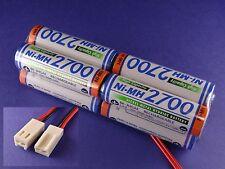 Senderakku Panasonic 2700 Würfel für Robbe Futa Molex Stecker ( Früher Sanyo )