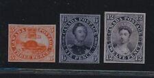 ***REPLICA*** of 1851 Province of Canada  3p red , 6p slate, 12p black -Sc 1,2,3