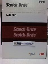 3M Scotch-Brite 64926 7447 PRO Hand Pads, Very Fine grade, 6 in x 9 in  20/Box