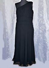 164$ AUTHENTIC LAUREN RALPH LAUREN BLACK SILK WOMEN`S DRESS-SIZE:US12/L/EU 40