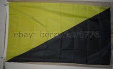 Anarcho-Capitalist 3'x5' Yellow Black Flag Rothbard Spooner USA Seller Shipper