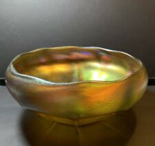 Antique Luis Comfort Tiffany Favrile Art Glass Bowl