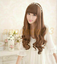 AWomen Long Curly Big Waves Realistic Vintage Wigs Party Cosplay Wigs