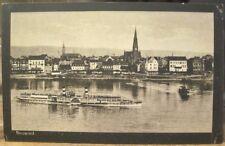 German Postcard NEUWIED am Rhein Rhine River Paddlewheel Steamer Ship Germany