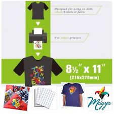 "Inkjet Heat Transfer Paper Soft Dark - 8.5"" x 11"" - 50 Sh Pack Blue Grid"