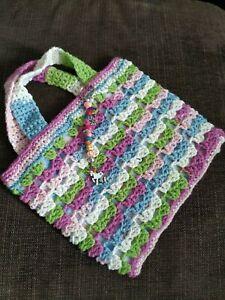 childs handmade stripe handbag and keyring butterfly