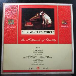 Reiner - Bizet: Carmen (French) 3 LP VG+ Mono His Master's Voice ALP 1115 UK