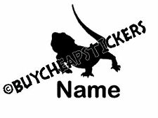 Bearded Dragon Silhouette #2 with Name 4x3 Decal