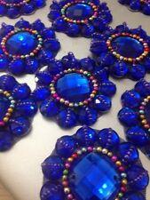 Royal Rhinestone Applique,Motif,edging,trim,sequins,beads 1 X (5.4 cm Approx)
