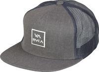 RVCA VA Sport Mens VA All The Way Trucker Snapback Hat - Charcoal Gray