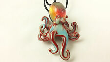 Octopus - Glass Pendant Necklace - handmade boro Lampwork *best selling item*