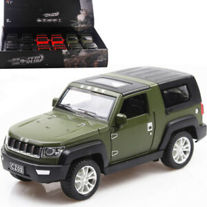 Jeep model simulation sound and light pull back car toy without packaging