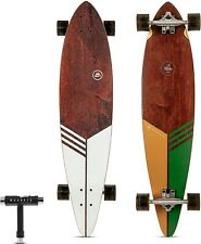 Magneto Pintail Longboard Skateboard Collection   Top Mount   Dark Stained Hard