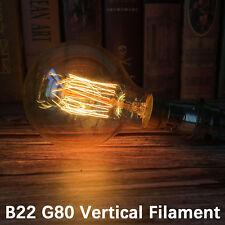 B22 Bayonet Cap Dimmable Retro Edison Bulb Vintage Filament G80 Light Lamp 60w