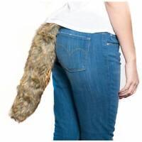 Furry Plush Animal Tail Halloween Costume Brown Fox Raccoon Tail Adult or Child