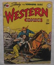 Golden Age WESTERN COMICS #3 Cowboy rescuing girl from Stampede on cover! VG 4.0