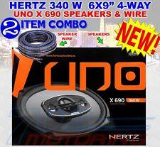 "HERTZ X 690 CAR 6X9"" AUDIO 340W FOUR-WAY PEI DOME TWEETERS COAXIAL SPEAKERS NEW"
