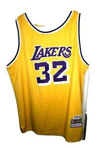 NBA Hardwood Classics VINTAGE  Lakers #32 MAGIC JOHNSON JERSEY 1979-80 SZ XL