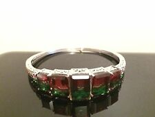 "Brazilian Watermelon Quartz 7.5"" (8.25 Ct) Bracelet with 14K Yellow Gold"