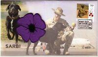 2015 FDC Australia. Century of Service: Animals in War. SARBI Limited Edition