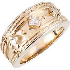 .45 Ct. Etruscan Diamond Band 3 Princess Cut Diamonds 14K Yellow Gold 70863