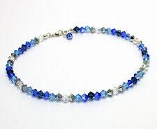 New Crystal Ocean Blue Anklet Ankle Bracelet made with Swarovski Elements