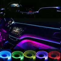 6M Car LED RGB Interior Fiber Optic Neon EL Wire Strip Atmosphere Light Kit APP