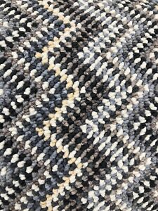 STAIR OR HALL CARPET RUNNER Zig Zag Grey Cream Charcoal made to measure any size