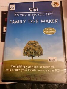 Who Do You Think You Are? FAMILY TREE MAKER PC CD New Never Used Perfect Conditi
