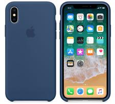 Midnight Blue Genuine Original Apple Silicone Case iPhone X