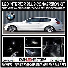 Premium LED Interior Light Conversion Kit BMW E87 1 Series 2003-13 Xenon White